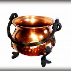 Jardiniera / Caldarusa decorativa realizata din cupru II - Arta din Metal