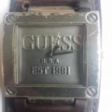 Ceas Guess USA Est 1981 original,curea piele naturala autentica!