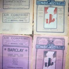 10 Cartoane reclame Economice 1920 - la Revista La Vie Technique Industrialle - Reclama Tiparita