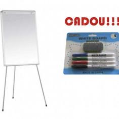 FLIPCHART MAGNETIC SMART 70x100 cm + CADOU!!! (SET 4 MARKER WHITEBOARD + BURETE) - Flipchart Birotica
