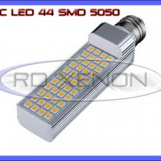 BEC LED PENTRU APLICA E27 - 44 SMD 5050 - ECHIVALENT 50W - ALB CALD - 220V