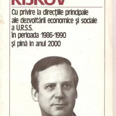 (C5989) NIKOLAI RIJKOV - DIRECTIILE DE DEZVOLTARE ECONOMICE SI SOCIALE A URSS..., Alta editura