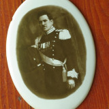 Fotoceramica funerara - Ofiter militar / uniforma militara de epoca !!! - Fotografie veche