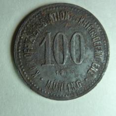 JETON LAGARUL DE PRIZONIERI PENTRU OFITERI - AUSTRO UNGARIA - MUHLING - 1915 - Jetoane numismatica