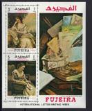 FUJEIRA 1968 ARTA PICTURA, Nestampilat