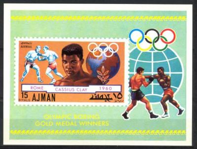 AJMAN 1971 JOCURILE OLIMPICE BOX foto