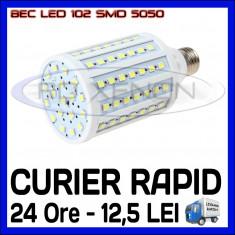 BEC LED E27 - 102 SMD 5050 - ECHIVALENT 150W - ALB CALD, ALB RECE - 220V ZDM