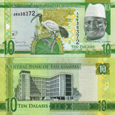 GAMBIA 10 dalasis 2015 UNC!!! - bancnota africa