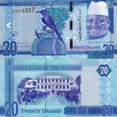 GAMBIA 20 dalasis 2015 UNC!!! - bancnota africa