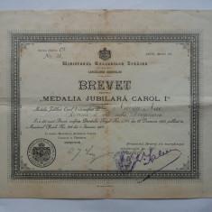 ROMANIA-BREVET PENTRU MEDALIA JUBILIARA CAROL I 10 MAI 1906 - Diploma/Certificat