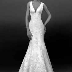 Rochie de mireasa biensavvy + voal bella sposa - Rochie de mireasa sirena