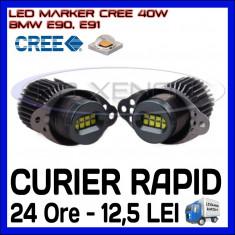 ANGEL EYES LED MARKER CANBUS - E90, E91 - 40W CREE High Power - ALB 6000K