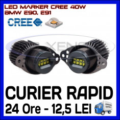 ANGEL EYES LED MARKER CANBUS - E90, E91 - 40W CREE High Power - ALB 6000K ZDM, Universal