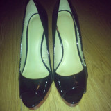 ZARA PANTOFI - Pantof dama Zara, Culoare: Negru, Marime: 38, Cu toc