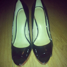 ZARA PANTOFI - Pantof dama Zara, Culoare: Negru, Marime: 38