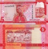 GAMBIA 5 dalasis 2015 UNC!!!