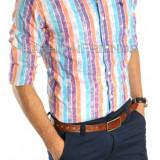 Camasa tip Zara NEW MODEL FASHION - camasa barbati - camasa slim - cod 4571, Marime: S, Culoare: Din imagine, Maneca lunga