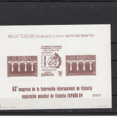 SPANIA EUROPA 84, BL NUMEROTAT, MNH - LOT 2 ST - Timbre straine