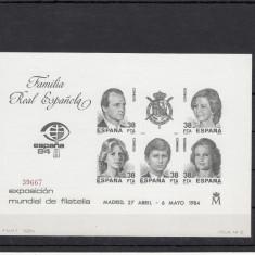 SPANIA 1984 BL NUMEROTAT FAMILIA REAL ESPANOLA - LOT 2 ST - Timbre straine