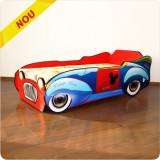 Pat copii masina Mickey Mouse, Alte dimensiuni, Rosu