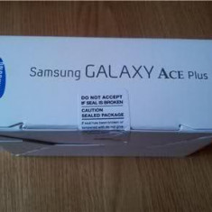 Samsung Galaxy Ace Plus S7500 nou, Alb, Neblocat, Smartphone