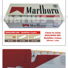 1.000 tuburi Marlboro RED - Multiflitru Carbon / pentru umplut tigari cu tutun - Foite tigari