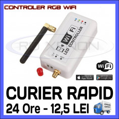 CONTROLER RGB WIRELESS WIFI (CU APLICATIE ANDROID SAU IOS) - PENTRU Banda LED ZDM