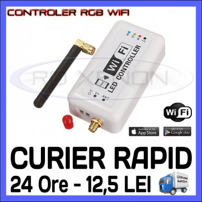 CONTROLER RGB WIRELESS WIFI (CU APLICATIE ANDROID SAU IOS) - PENTRU BANDA LED foto