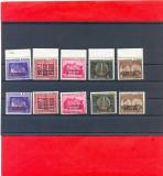RO-0007=ROMANIA 1941=Fundatia Carol I,supratipar CERNAUTI+CHISINAU serii MNH, Arme