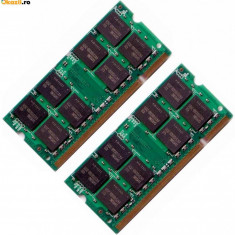 Ram rami SODIMM (1x1gb) DDR2-800 1GB PC2-6400S SODIMM 800MHz (sau kit 2x1gb) - Memorie RAM laptop