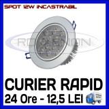 SPOT LED INCASTRABIL - 12W EPISTAR - ECHIVALENT 95W - ALB RECE SAU CALD, Becuri LED, Rece (4100 - 4999 K), ZDM