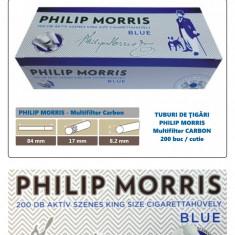 1.000 tuburi PHILIP Morris - Multiflitru Carbon / pentru umplut tigari cu tutun - Foite tigari