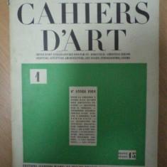 CAHIERS D ART ANUL 6, NR 1, 1931