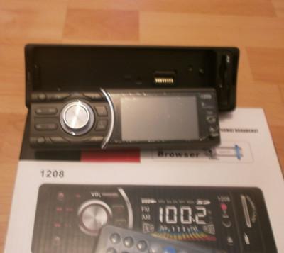 Mp3 player auto cu suport usb, sd si mmc card cu telecomanda si panou detasabil foto