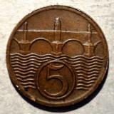 C.040 CEHOSLOVACIA 5 HALERU 1930, Europa, Bronz