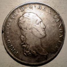 E.057 GERMANIA SAXONIA FRIEDRICH AUGUST I THALER TALER 1812 SGH ARGINT, Europa