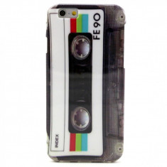 "Husa retro Cassette silicon Iphone 6 4,7"" + folie protectie"