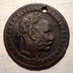 A.067 JETON FRANZ JOSEPH SPIEL UND RECHENPFENNIG 20, 5mm - Jetoane numismatica, An: 1900