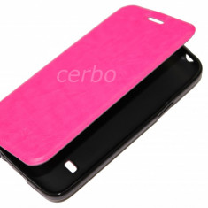 HUSA SAMSUNG GALAXY S5 mini roz UB - Husa Telefon Samsung, Universala, Piele Ecologica, Cu clapeta