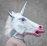 Masca latex Inorog Unicorn petrecere Halloween tematica costum cosplay +CADOU
