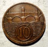 C.039 CEHOSLOVACIA 10 HALERU 1929, Europa, Bronz