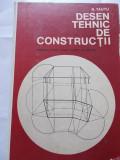 DESEN TEHNIC DE CONSTRUCTII - N.TAUTU ,ARE SI CELE 5 PLANSE .