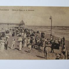 C.P. BAILE SI PLAJA DE LA MAMAIA ANII 20 - Carte Postala Dobrogea dupa 1918, Circulata, Printata, Constanta