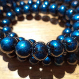 Colier margele cu foita imitatie de Murano - Colier perle
