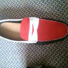Pantofi noi - Mocasini barbati Zara, Marime: 43, Culoare: Rosu