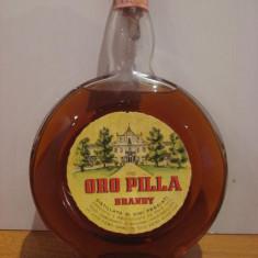 Brandy oro pilla ( ceas ) cc 1000 gr 40 italy ani 1960-1970 rare - Cognac