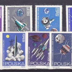 Cosmos, rachete, Laika, Polonia. - Timbre straine, Nestampilat