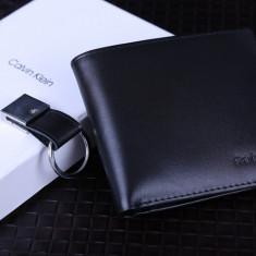 Portofel Calvin Klein M1 ORIGINAL piele FULL-GRAIN barbat import CK USA +CADOU! - Portofel Barbati Calvin Klein, Negru