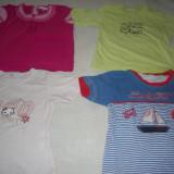 5 tricouri fetite 2-3 ani, Culoare: Din imagine