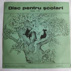 RAR! DISC(VINIL) NOU PENTRU SCOLARI/ELEVI CLASA A VI-A EDIT.DIDAC.SI PEDAG.1974